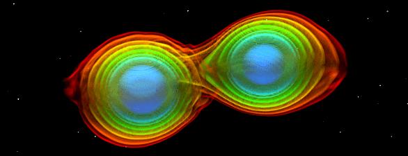 Simulation verschmelzender Neutronensterne